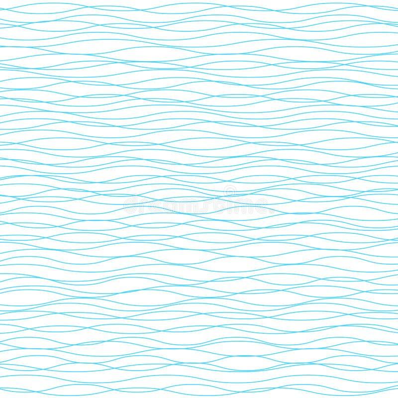 Fond ondulé de vecteur Texture rayée de vague horizontale légère illustration de vecteur