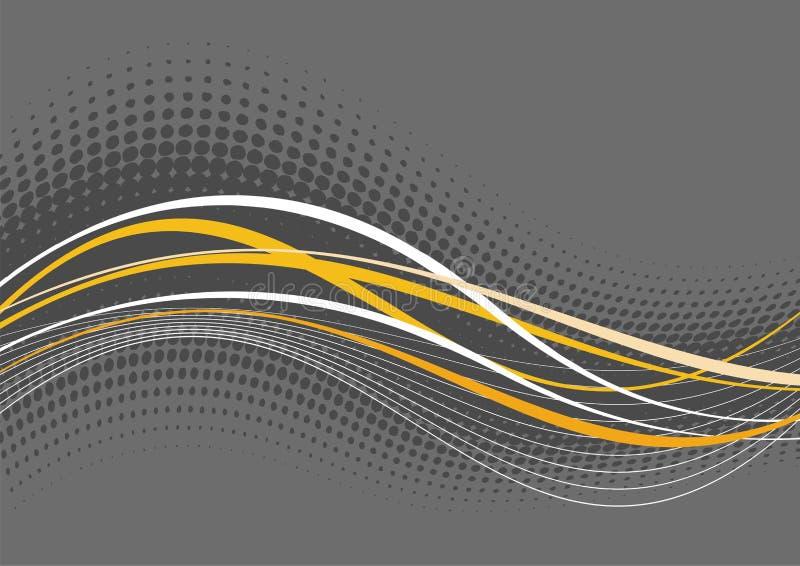 Fond ondulé grisâtre illustration libre de droits