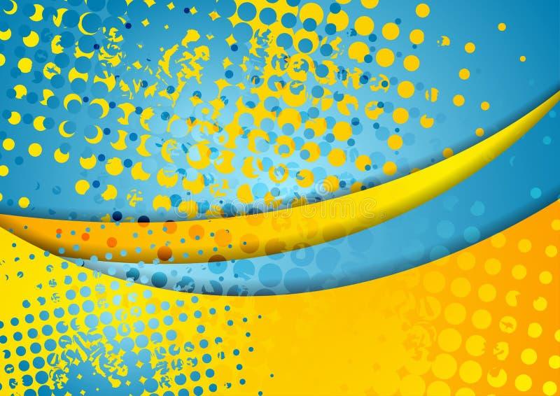 Fond onduleux abstrait grunge coloré illustration stock