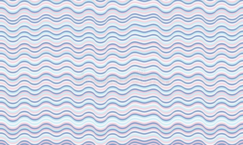 Fond onduleux frais de rayures Texture d'ondulation illustration libre de droits
