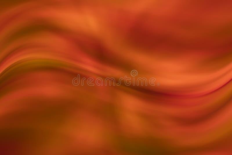 Fond onduleux rouge ambre de résumé illustration de vecteur