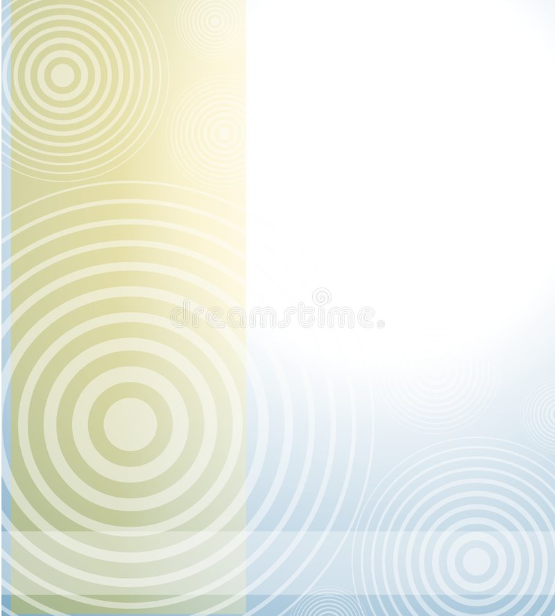 Fond opaque bleu radial de Brown illustration libre de droits