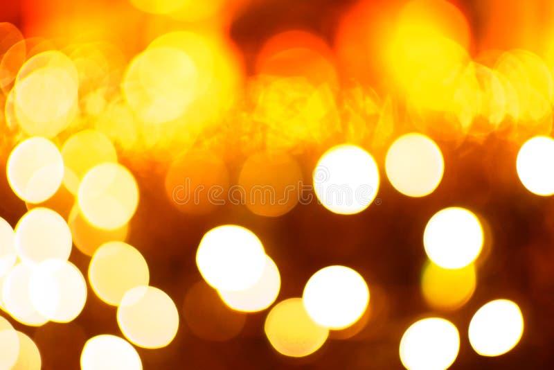 Fond orange abstrait de Bokeh images libres de droits