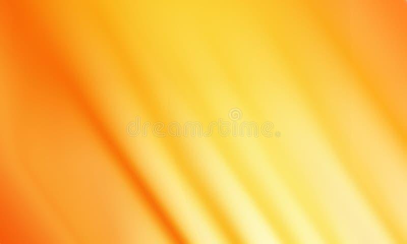 Fond orange abstrait de tache floue de mouvement, papier peint illustration stock