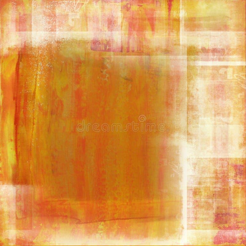 Fond orange affligé illustration stock