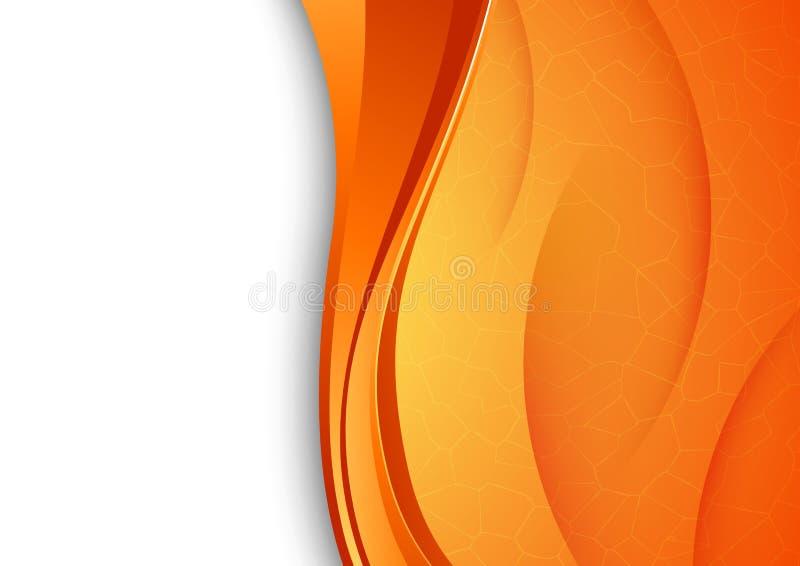 Fond orange avec la texture criquée illustration de vecteur