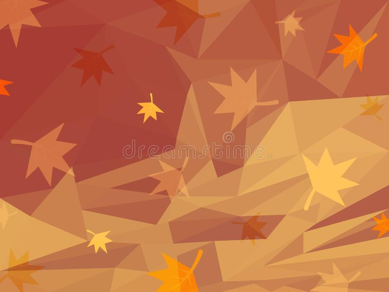 Fond orange d'abrégé sur vecteur d'automne illustration de vecteur