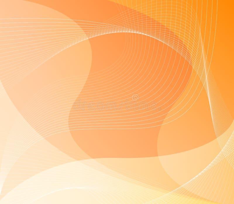 Fond orange d'abstrait/Web illustration stock