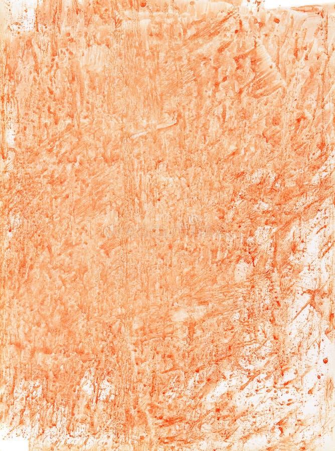 Fond orange d'aquarelle photographie stock