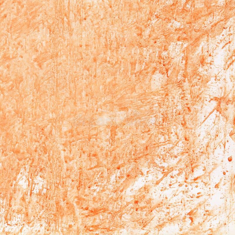 Fond orange d'aquarelle photos stock