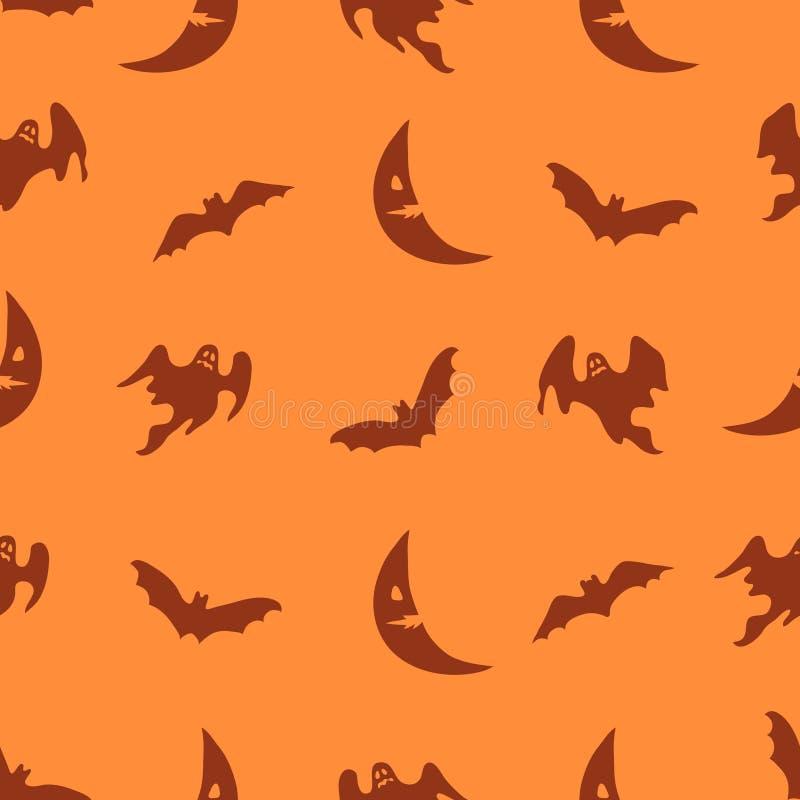 Fond orange de Halloween de vecteur illustration libre de droits