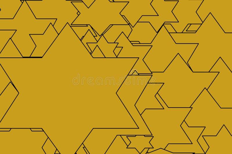 Fond orange de texture d'étoile de David illustration libre de droits