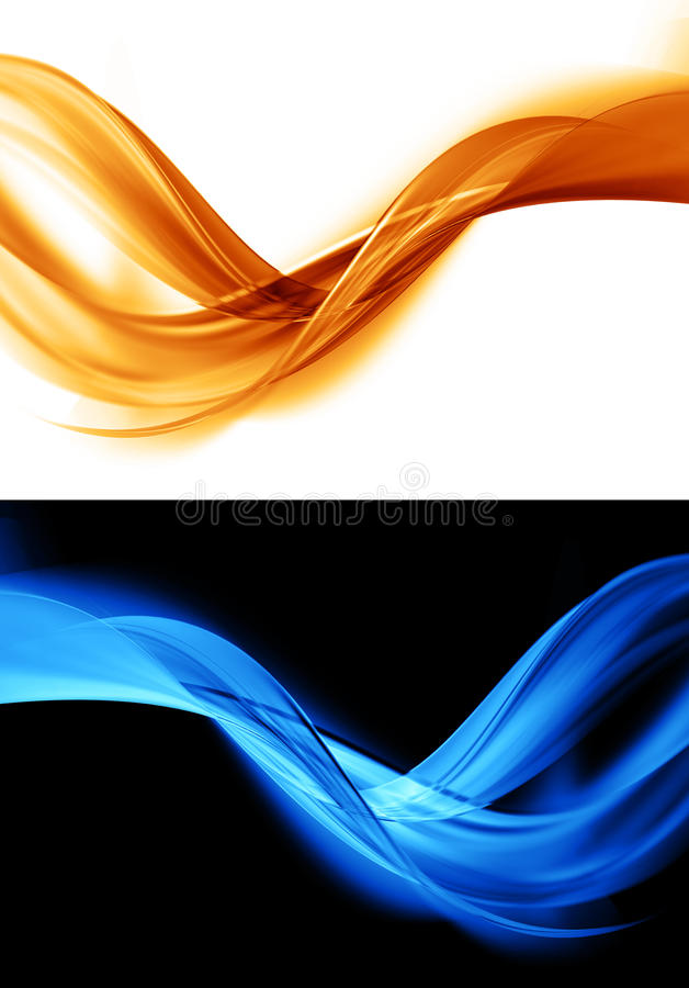 Fond orange et bleu abstrait illustration stock