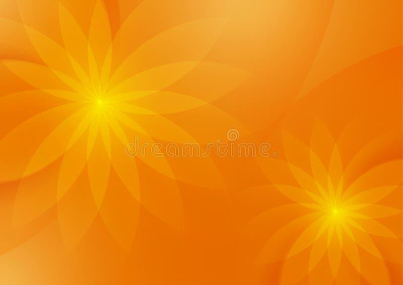 Fond orange floral abstrait pour la conception photographie stock libre de droits