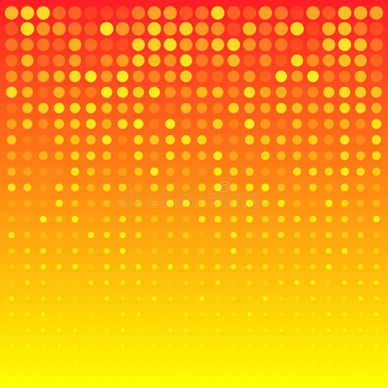 Fond orange lumineux abstrait illustration stock