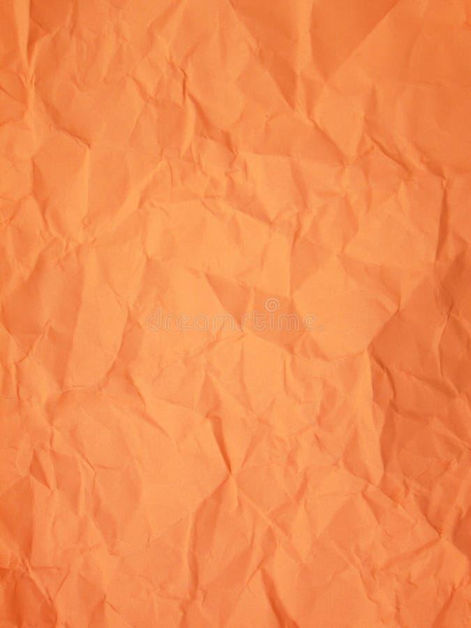 Fond orange - papier chiffonné photo libre de droits