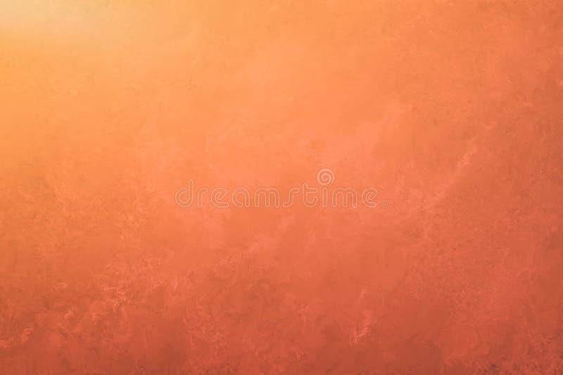 Fond orange rouge foncé avec la texture de vintage, le beau contexte élégant et beau illustration stock