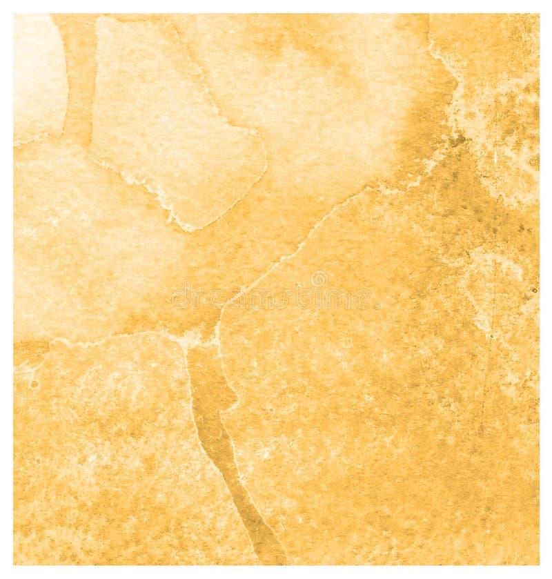 Fond orange roux expressif de course de brosse d'aquarelle Texture de papier artistique peinte à la main illustration libre de droits