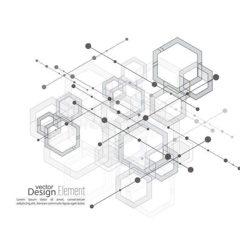 Fond ordonné abstrait illustration de vecteur