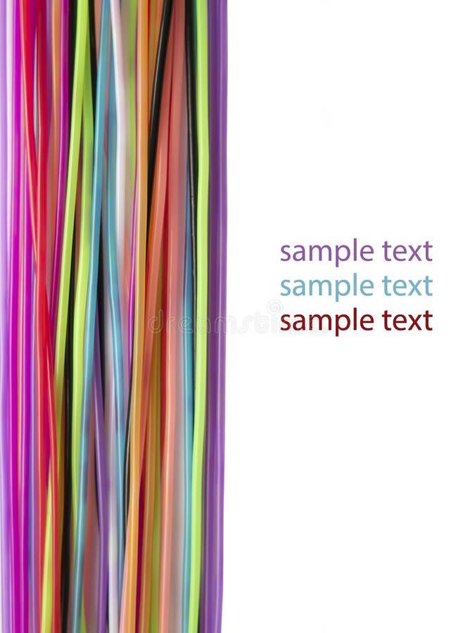 Fond ordonné avec les fils colorés, et l'endroit pour le texte images stock