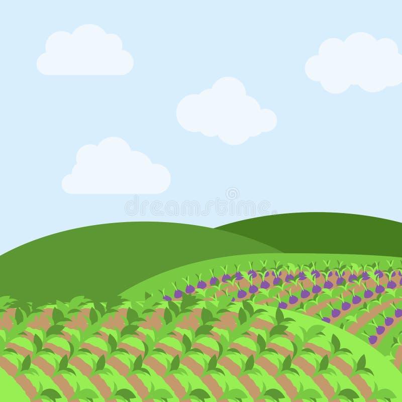 Fond orienté de ferme de vecteur illustration de vecteur