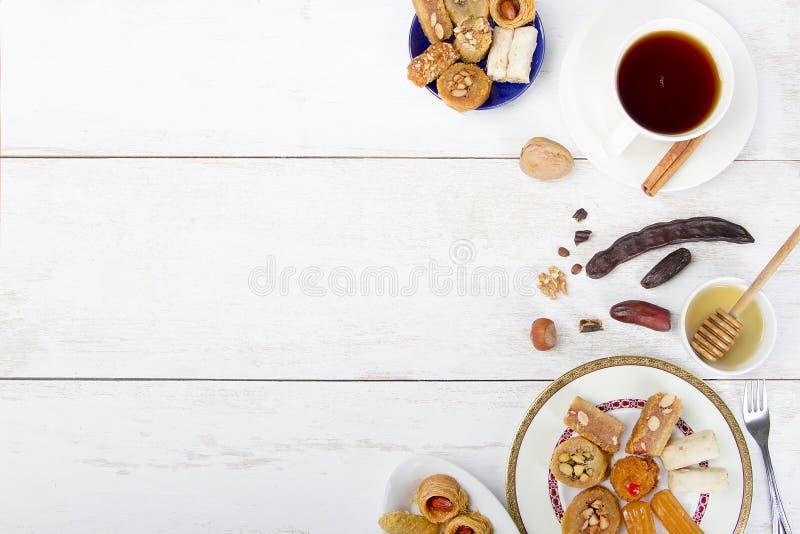 Fond oriental de bonbons images stock