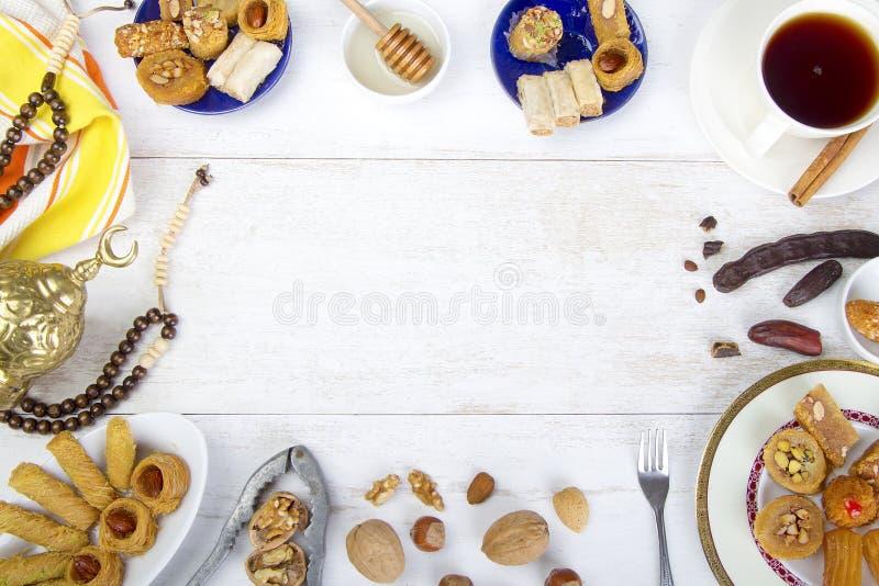 Fond oriental de bonbons photographie stock