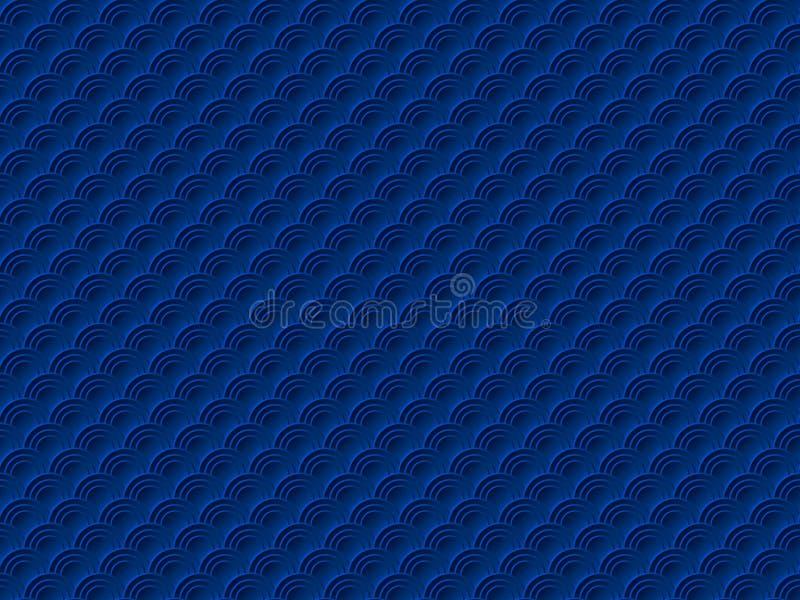 Fond oriental traditionnel chinois d'ornement, modèle sans couture de vecteur de nuages bleu-foncé illustration libre de droits