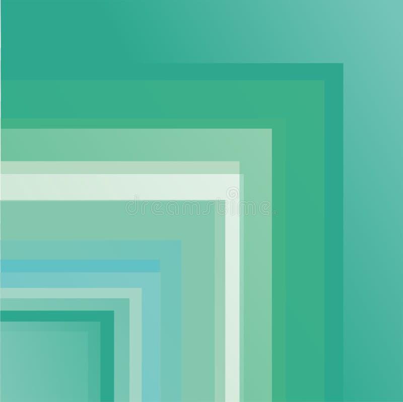 Fond original et beau avec les intersections vertes image stock