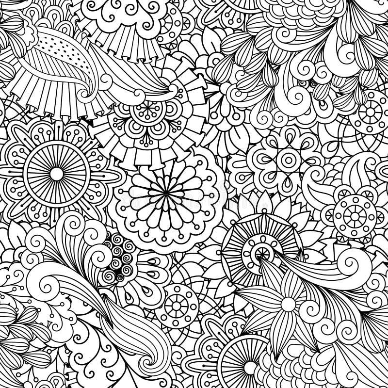 Fond ornemental composé d'éléments floraux illustration stock