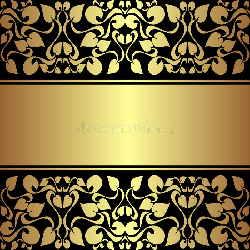 Fond ornemental de luxe avec le ruban d'or. illustration libre de droits