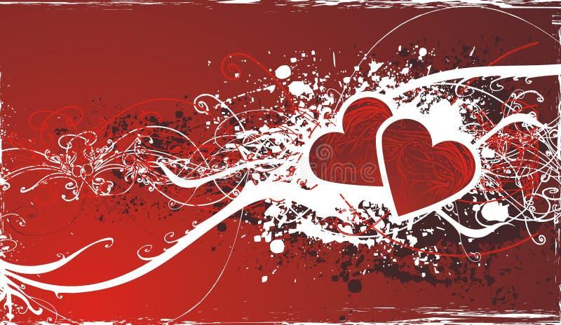 Fond ornemental de valentine illustration libre de droits