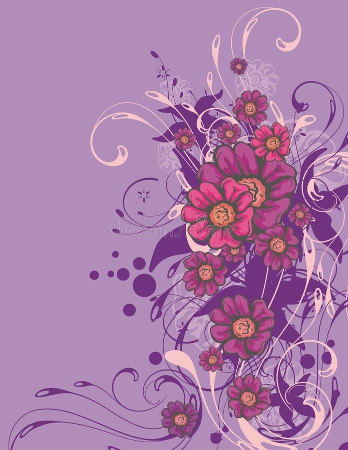 Fond ornemental floral illustration stock