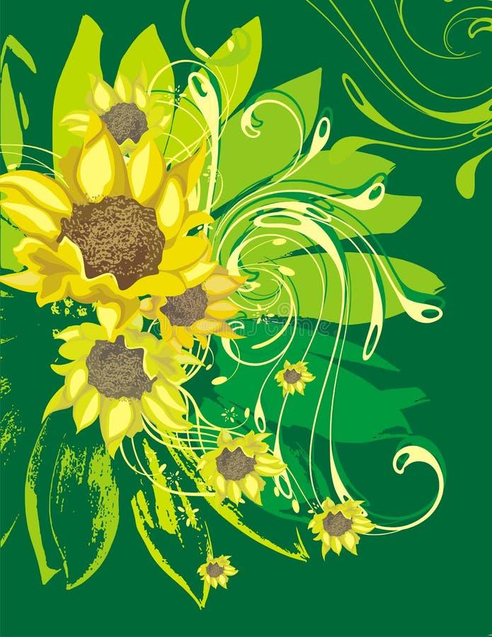 Fond ornemental floral illustration de vecteur