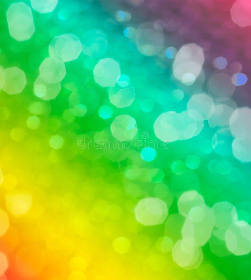 Fond ou bokeh brouillé multicolore d'arc-en-ciel photo stock