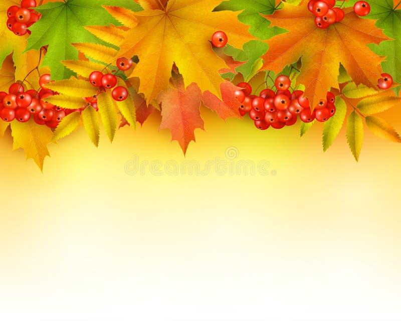 Fond ou frontière d'automne illustration stock