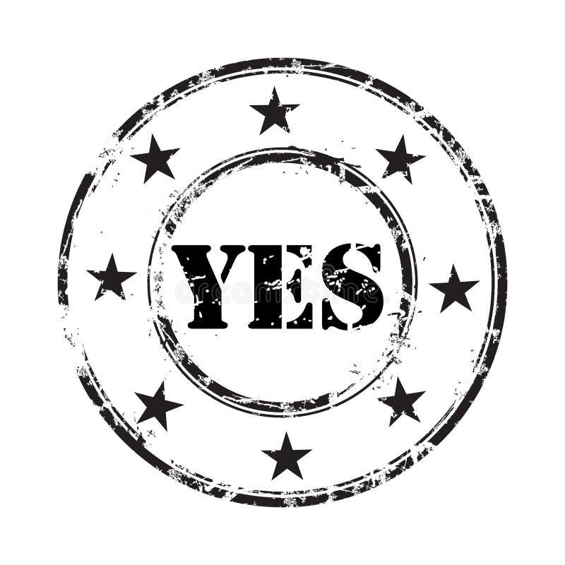 Fond oui grunge de tampon en caoutchouc illustration libre de droits