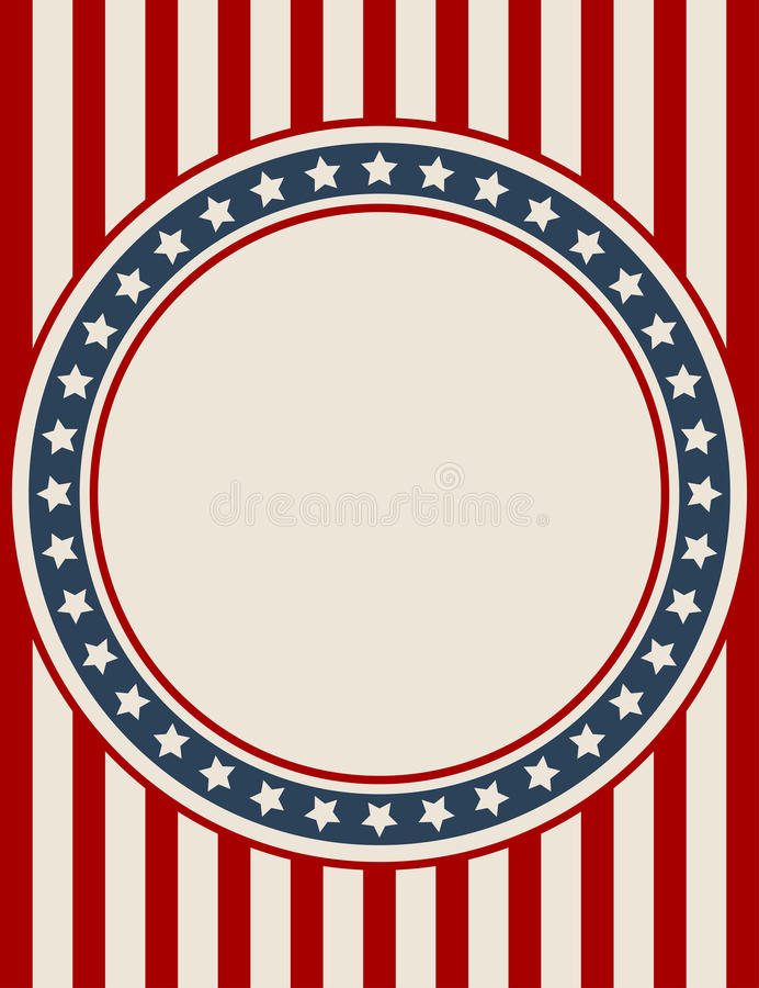 Fond patriotique américain de cru illustration libre de droits