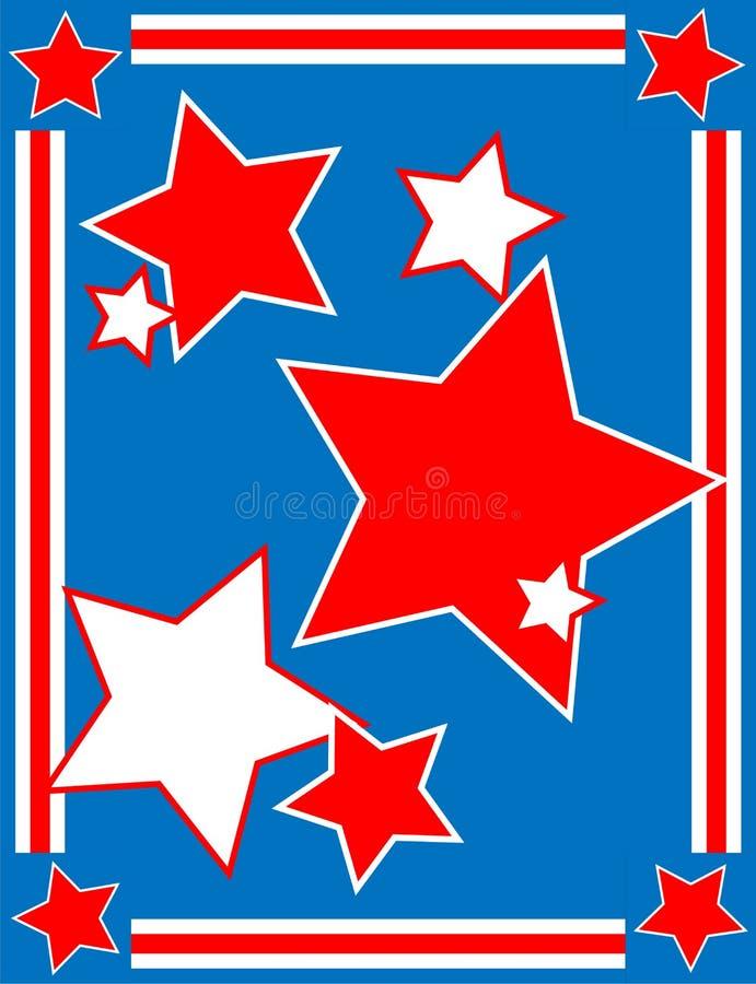 Fond patriotique d'étoile de vecteur illustration stock