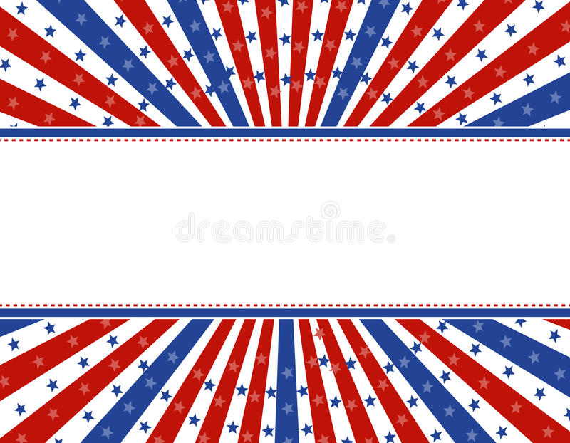 Fond patriotique de cadre illustration de vecteur