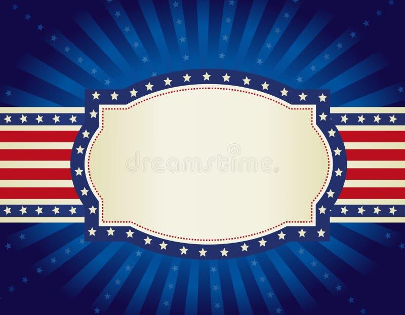 Fond patriotique de cadre illustration libre de droits