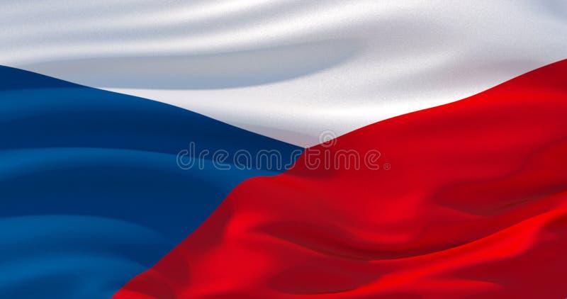 Fond patriotique de drapeau de République Tchèque, illustration 3d illustration stock