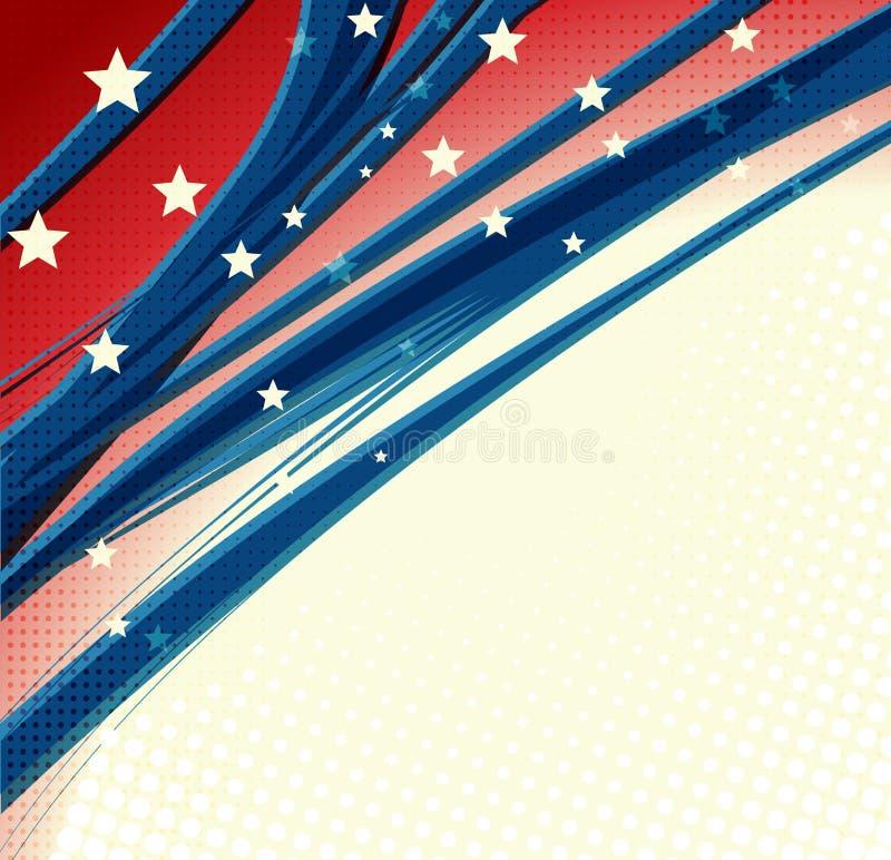 Fond patriotique de Jour de la Déclaration d'Indépendance américain illustration de vecteur