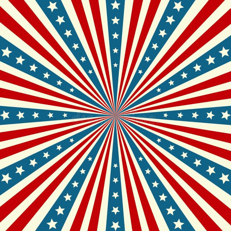 Fond patriotique de Jour de la Déclaration d'Indépendance américain illustration libre de droits