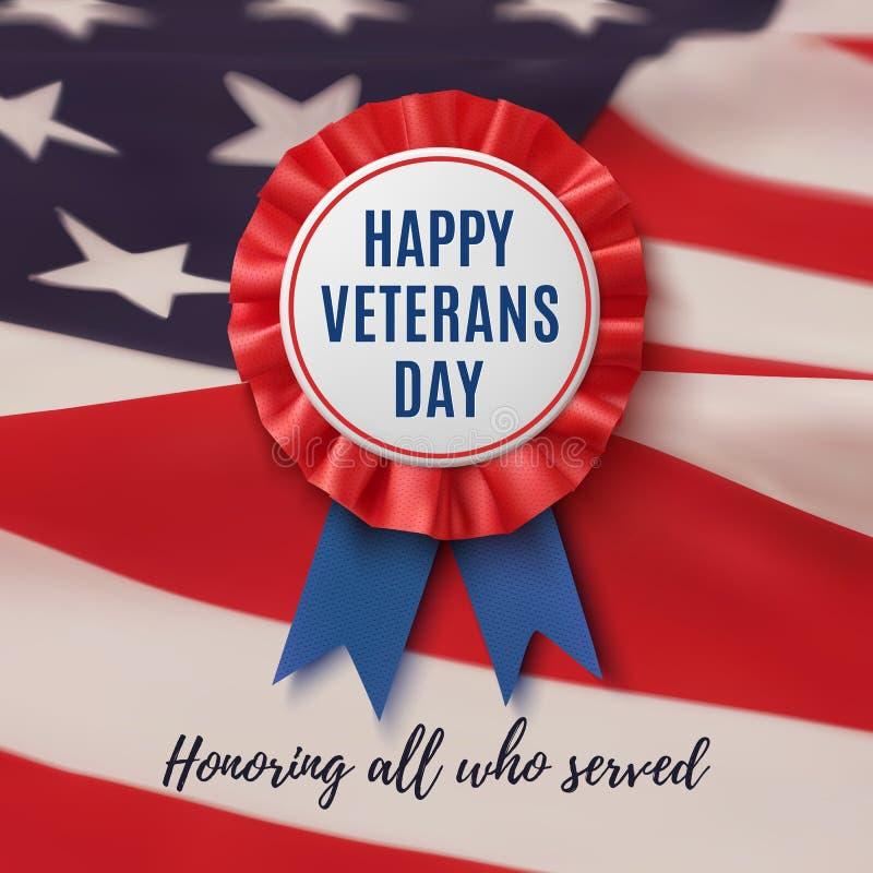 Fond patriotique heureux de jour de vétérans illustration de vecteur