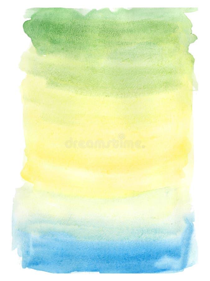 Fond peint à la main d'été d'aquarelle image libre de droits
