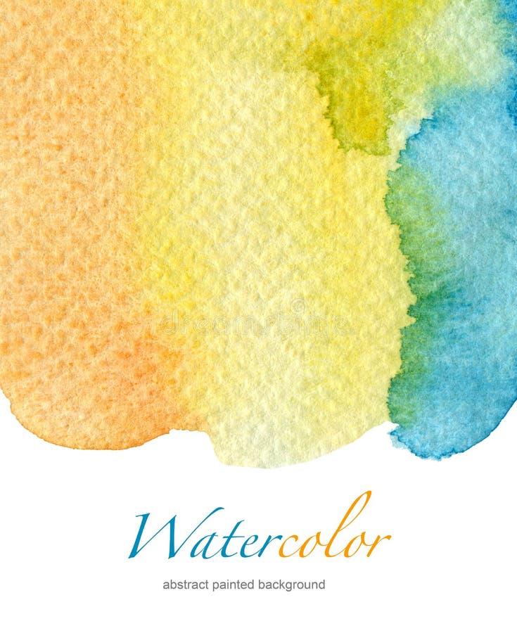 Fond peint à la main d'aquarelle abstraite image stock