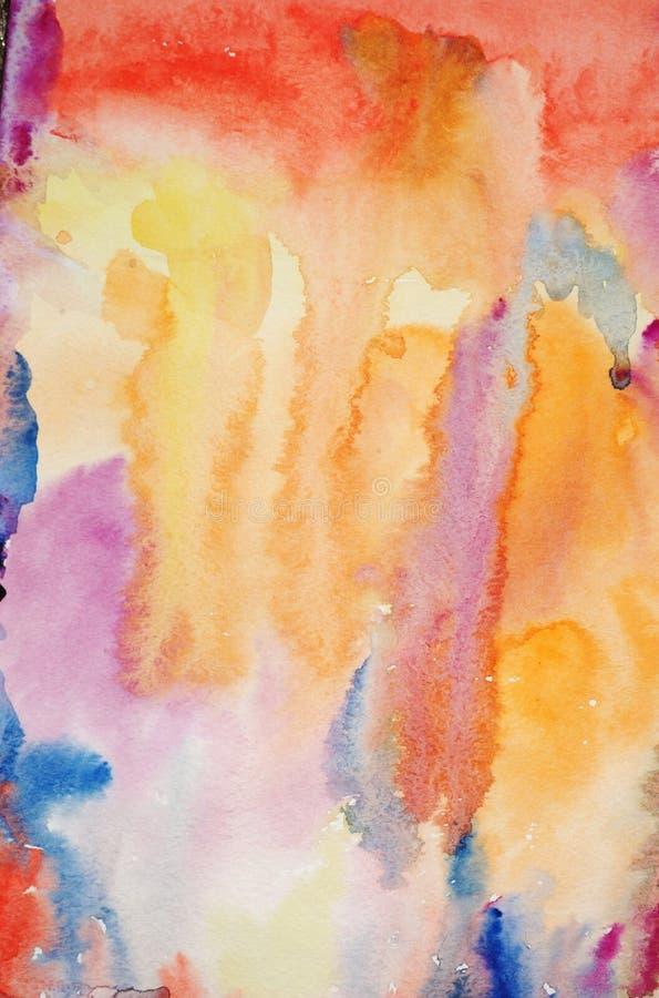 Fond peint à la main d'art d'aquarelle images stock