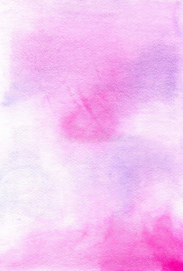 Fond peint à la main rose d'aquarelle image libre de droits