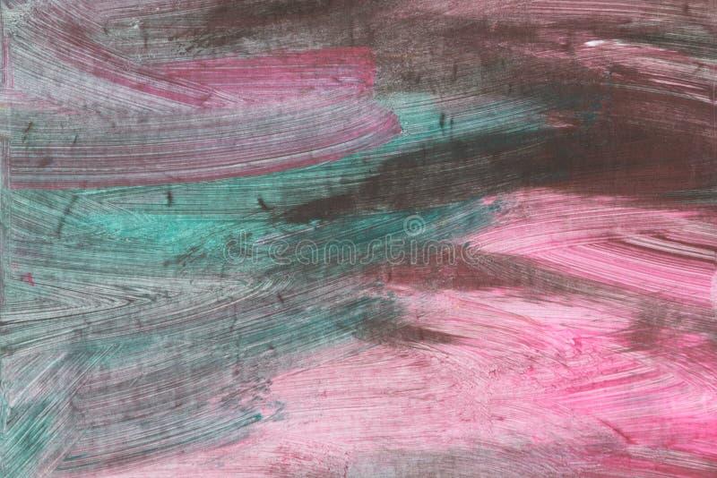 Fond peint à la main texturisé artistique abstrait sur la toile image stock